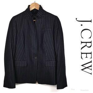 J. CREW Lined Wool Striped Blazer Sz 6 $198!